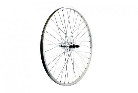 ETC Rear Wheel MTB 26 X 1.75 Alloy Double Wall Silver Gear Sided Quick Release