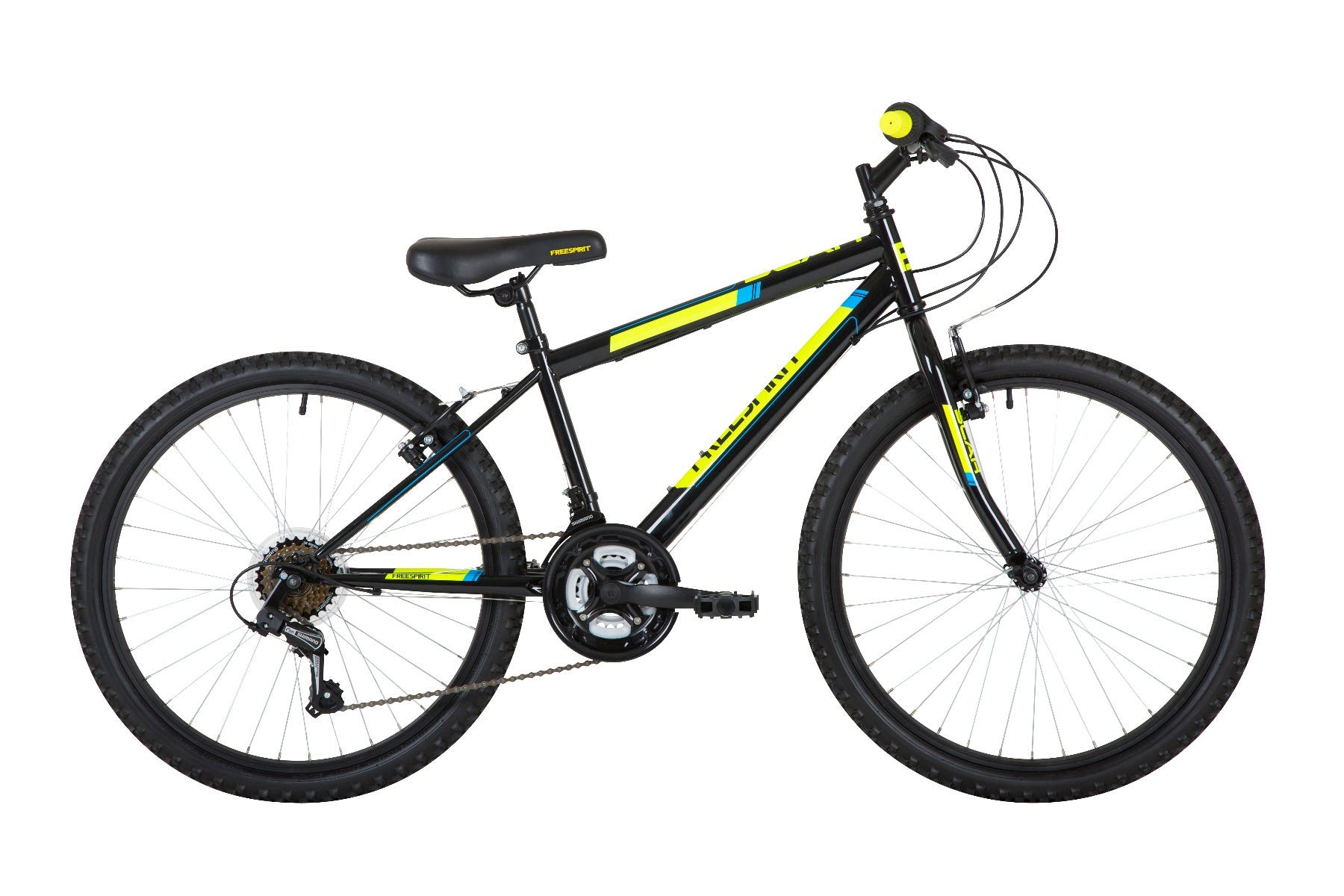 "Freespirit Scar 24"" 2020 Junior Bike Black/Yellow"