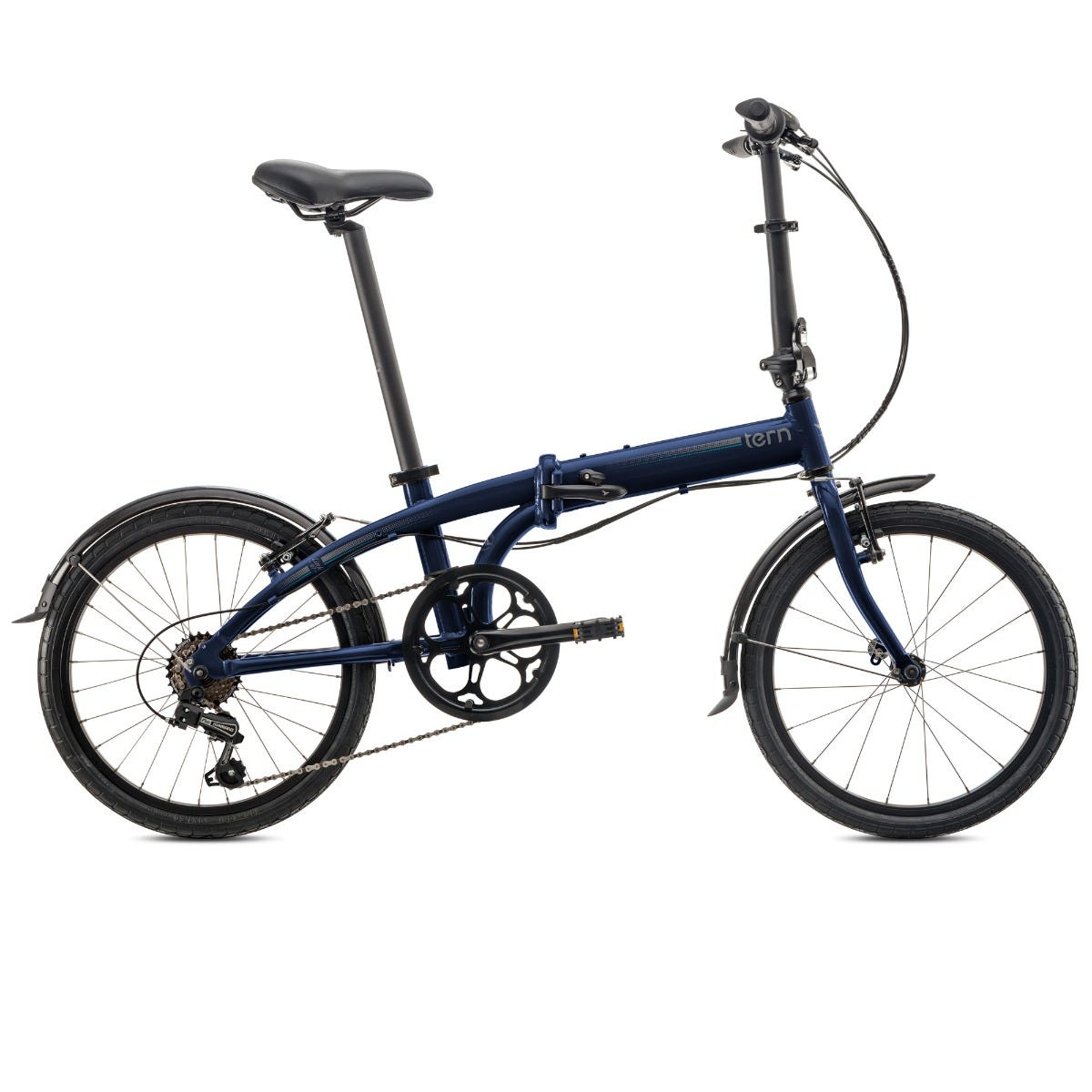 "Tern Link B7 20"" 7Spd 2020 Folding Bike Midnight Blue"