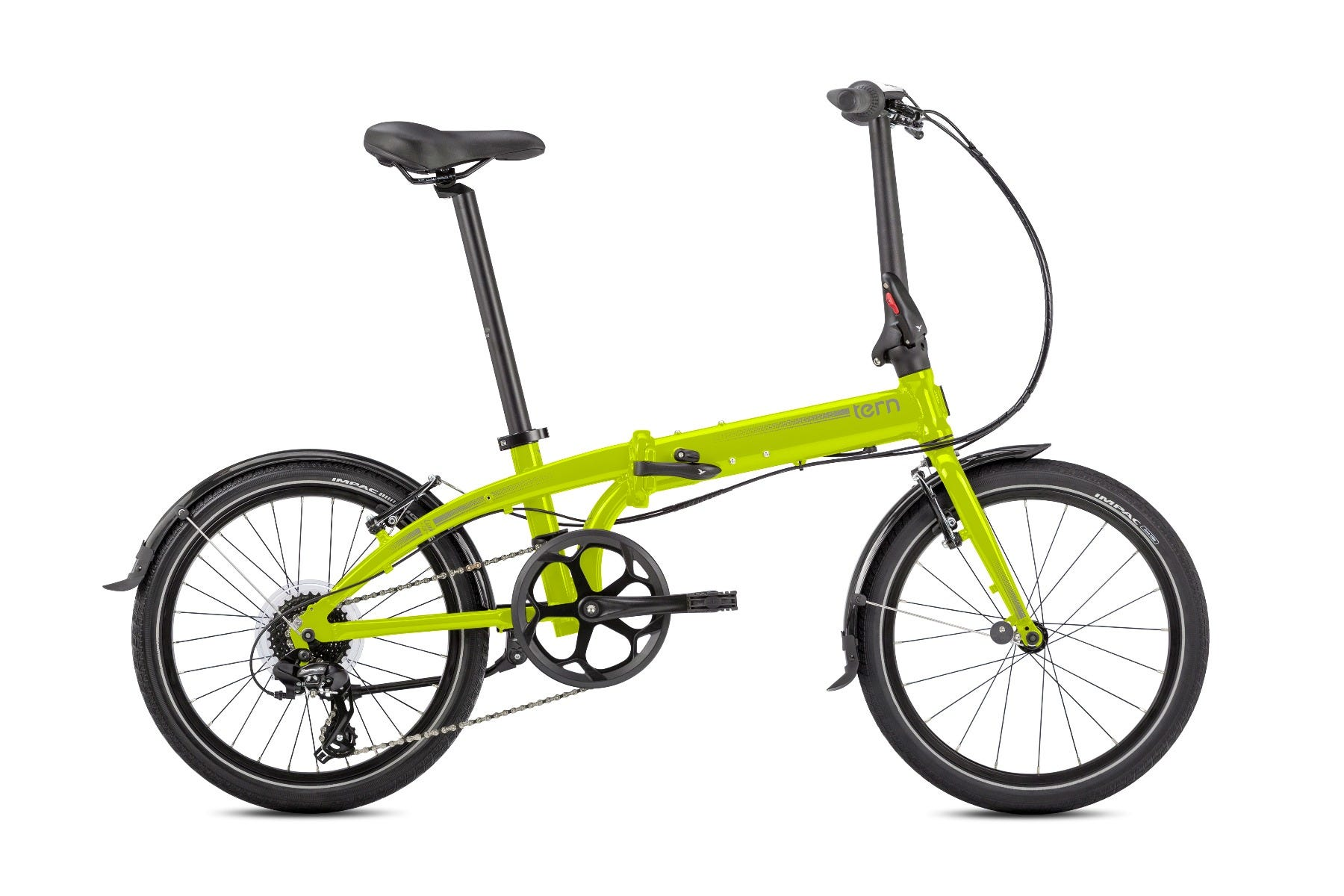 "Tern Link C8 20"" 8spd Folding Bike Yellow"
