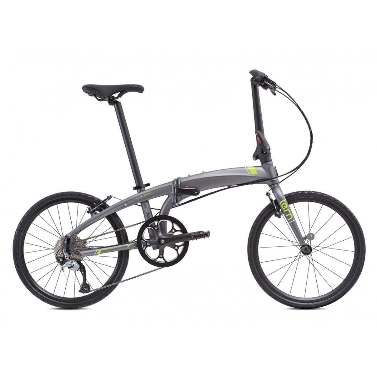 "Tern Verge D9 20"" 9 speed 2020 Folding Bike Gunmetal"