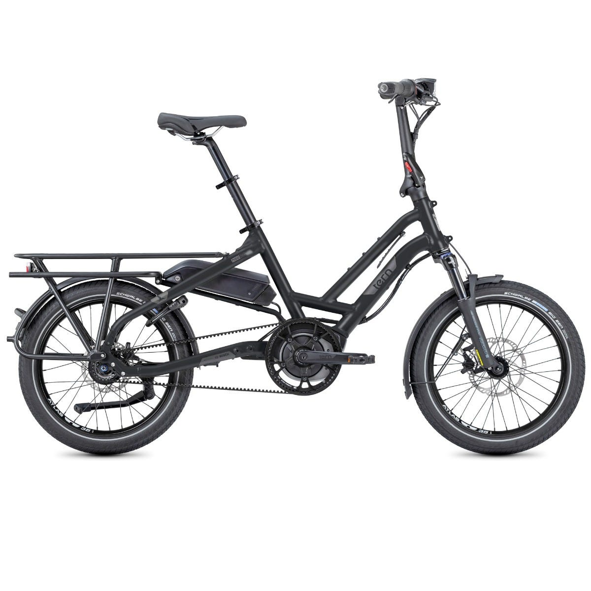 Tern HSD S8i 2020 Electric Folding Cargo e-Bike Matte Black